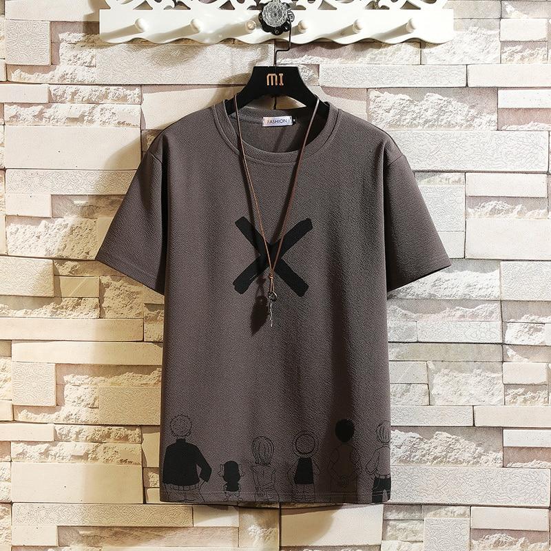 T-shirt À Manches courtes Hommes 2021 D'été Haute Qualité Tshirt Top T-shirts De Marque Classique Mode Vêtements Grande Taille M-5XL O COU